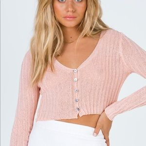 NWOT Princess Polly cropped sweater